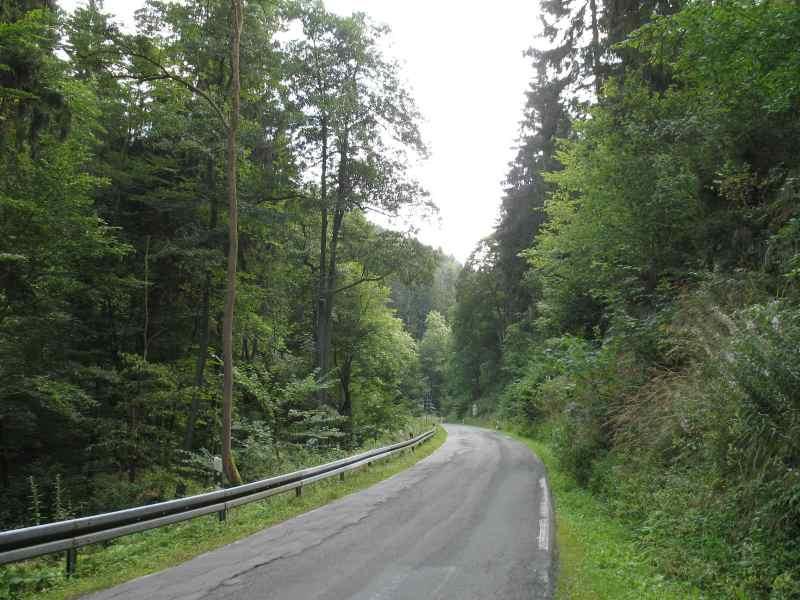 Straße ''L93'' zwischen Allrode und Treseburg