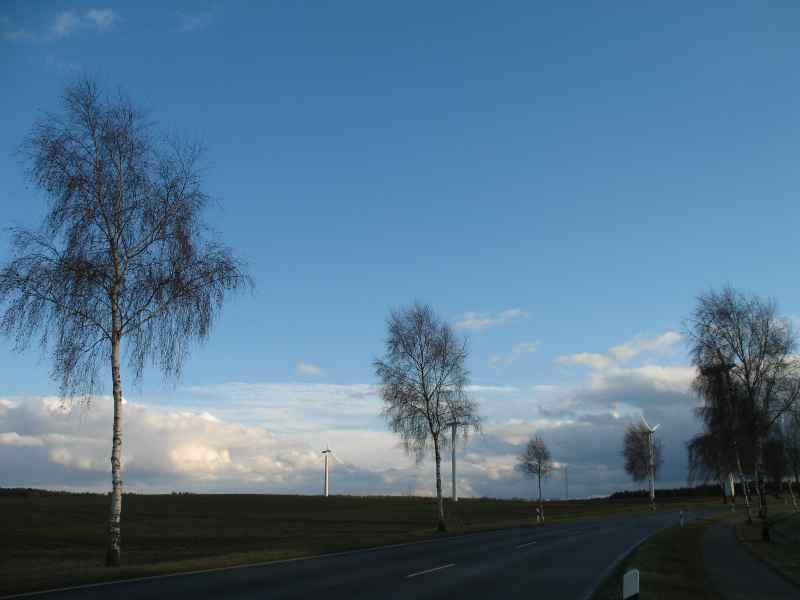 fast wolkenloser Himmel