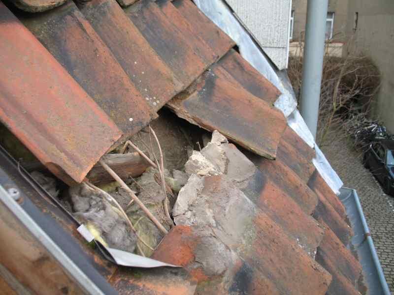gebrochene Dachlatte