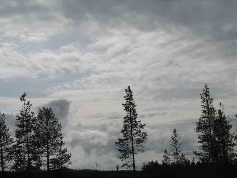 drohende Wolken