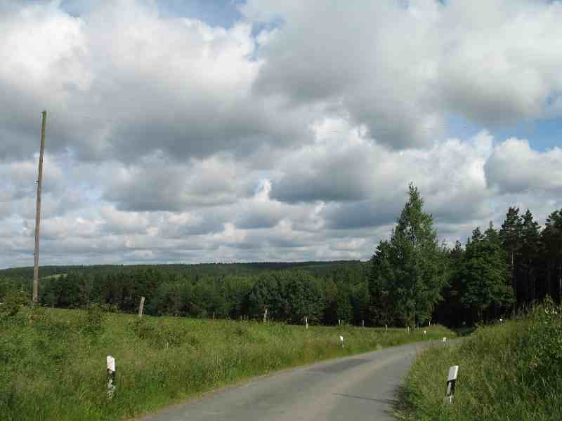 Straße im Vogtland