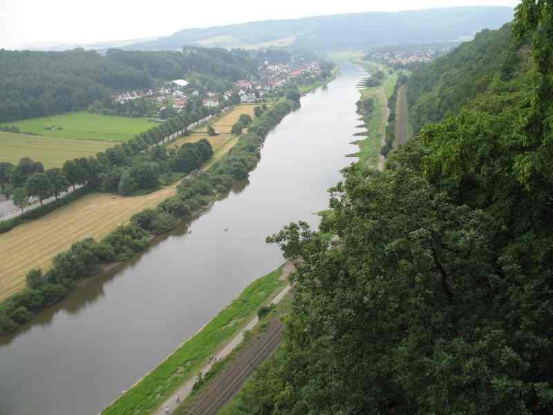 Ausblick über die Weser