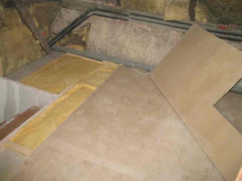 Fußboden im Treppenhaus