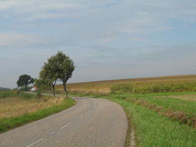 gut ausgebaute Straßen fast ohne Verkehr