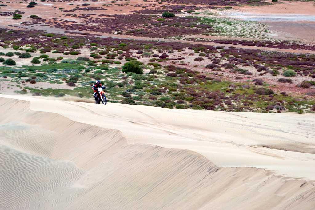 mit den EXCs die großen Sanddünen