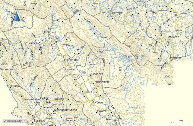 Bunkertrails-Karte