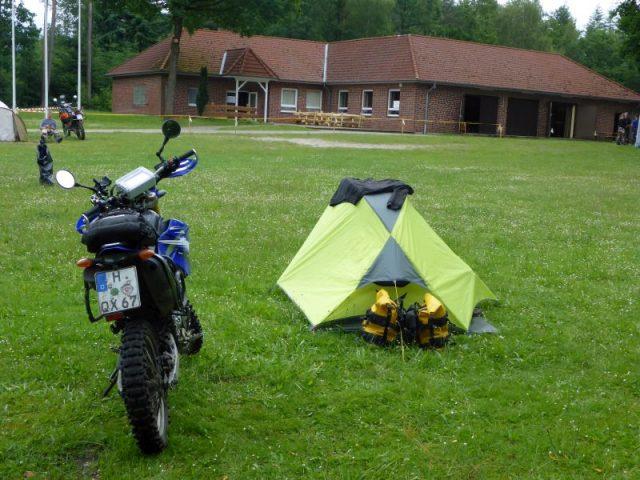 Lager eingerichtet