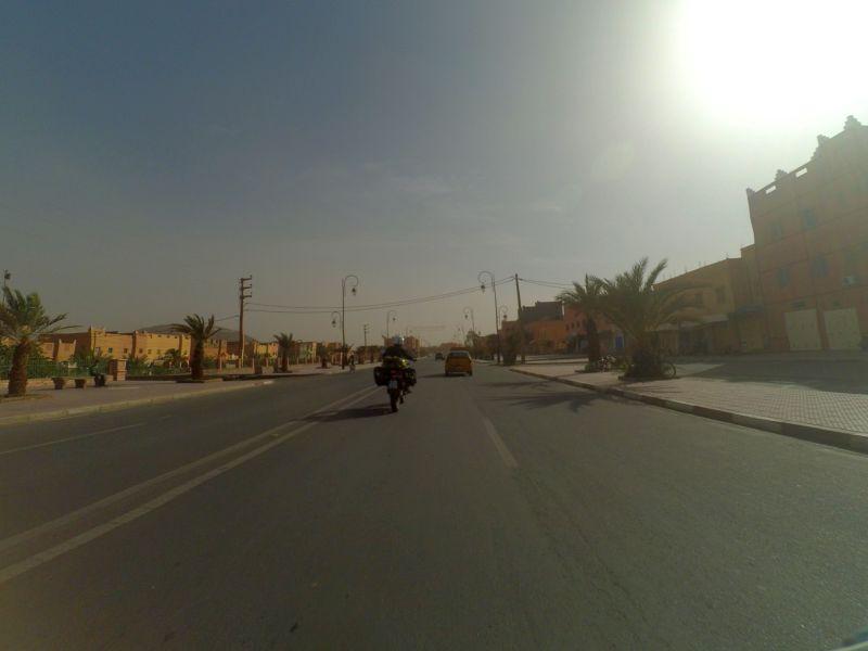 Dunstglocke von feinem Wüstensand