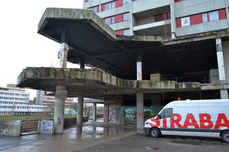 Entkernte Ladenflächen
