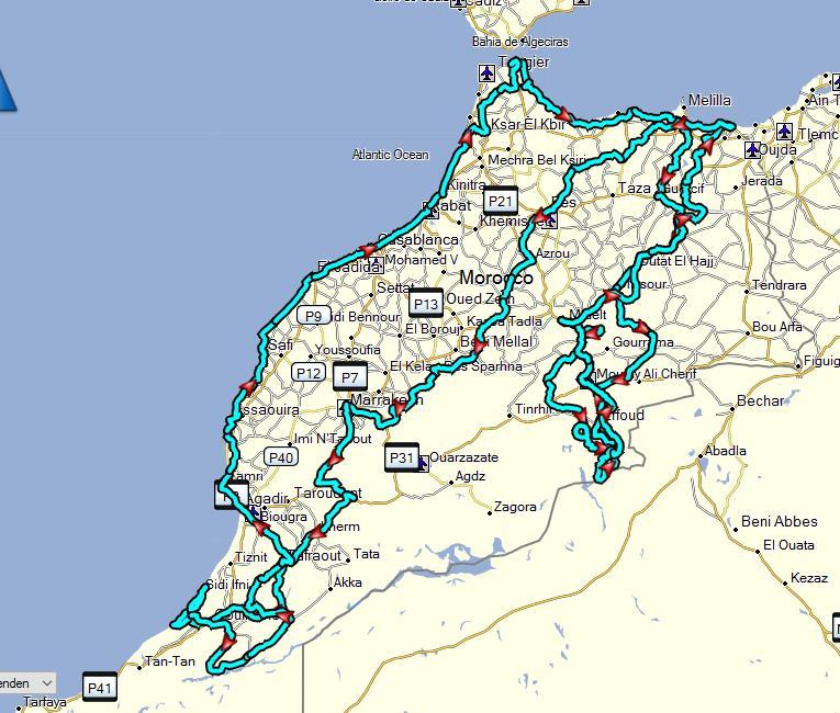 Kreuz und Quer durch Marokko