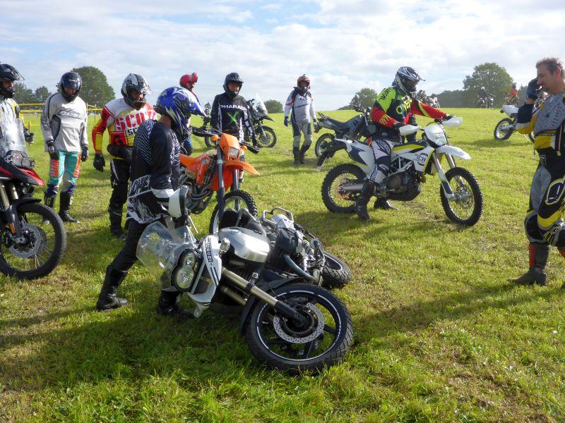 Motorrad aufheben