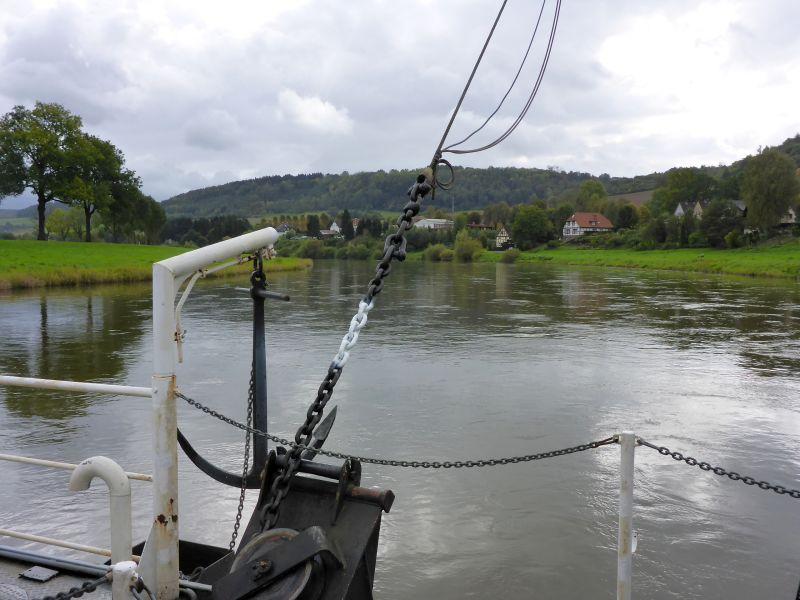 über die Weser bei Polle