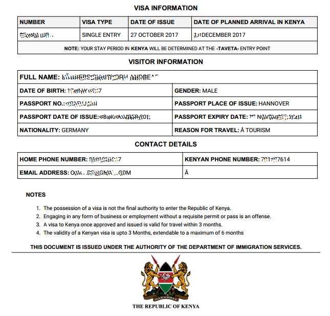 Kenya Visum