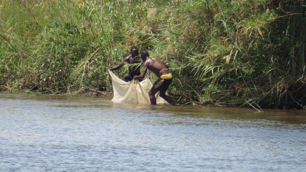 Fischer am Sambesi