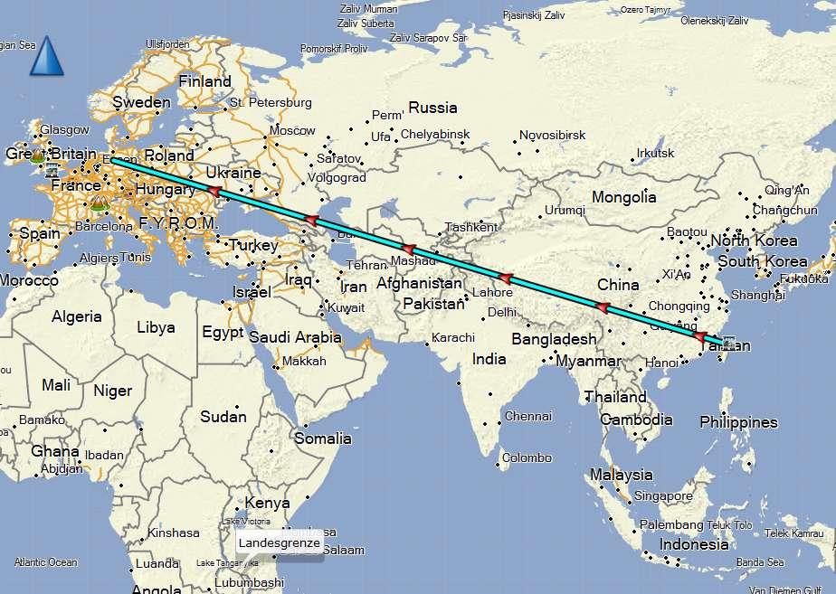 schon 10.456km unterwegs