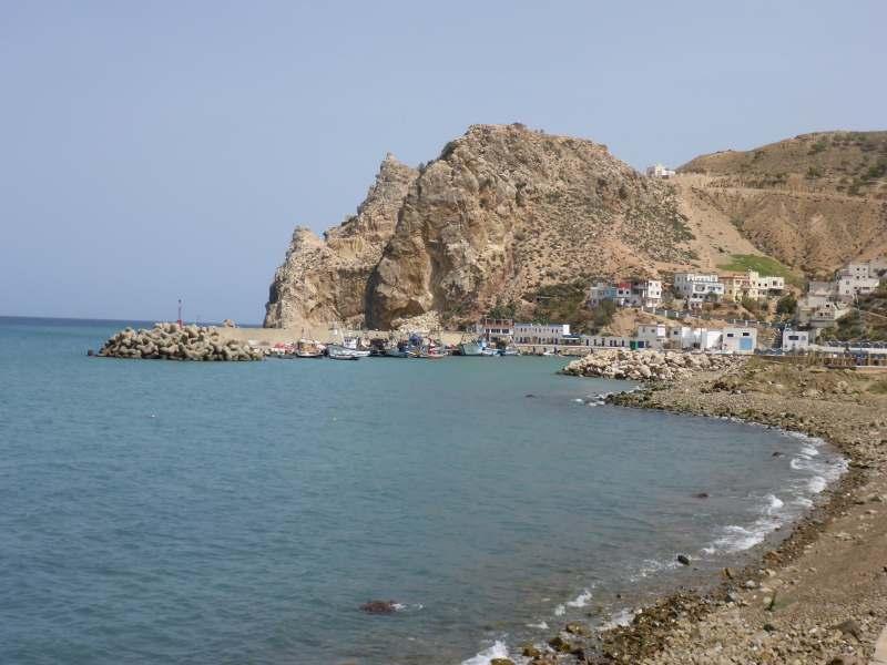 Bucht mit Fischerhafen