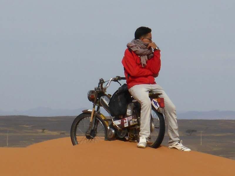 Mofa durch die Dünen
