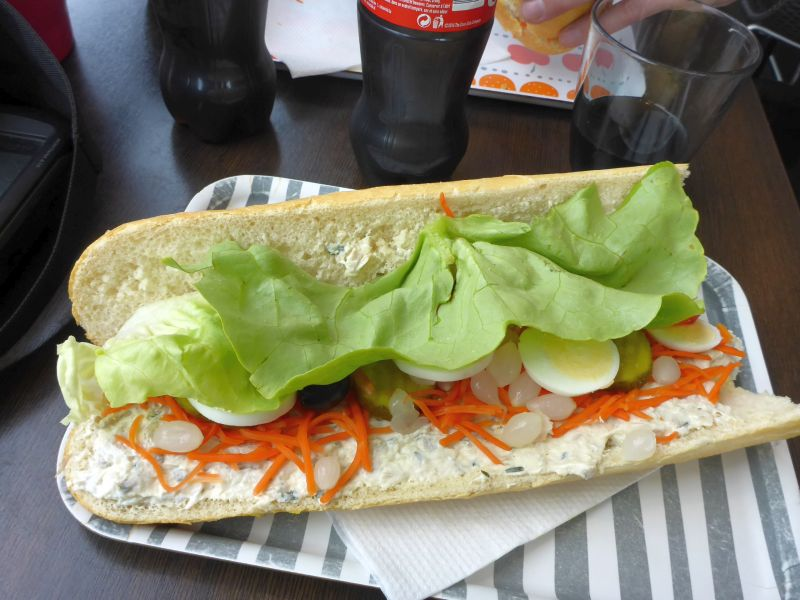 Sandwich avec poulet curry