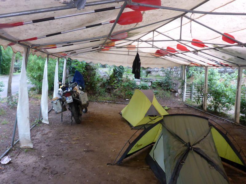 Zelt unter Zelt Technologie