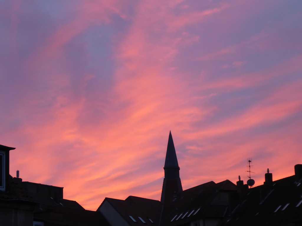 Abendhimmel über Linden