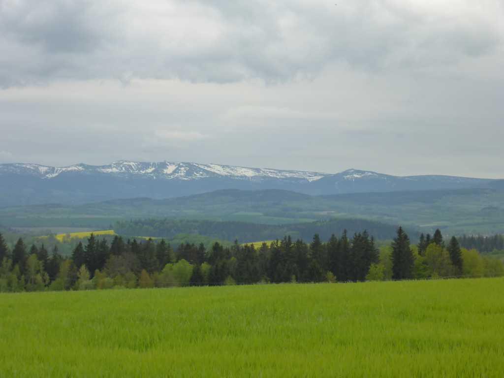 Schnee im Riesengebirge